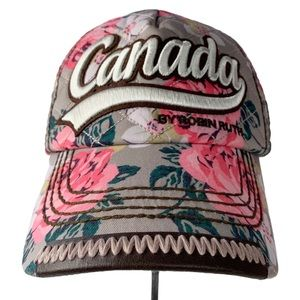 Robin Ruth roses Canada mesh snap back trucker cap